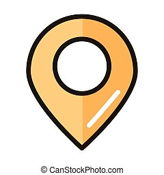 gps navigation location pin internet web technology interface line and fill style icon