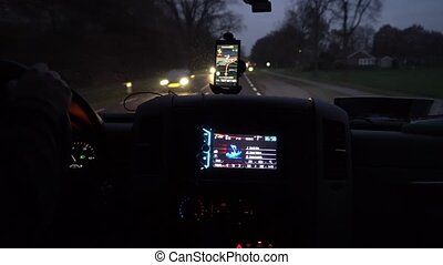GPS Navigation on Smartphone - GPS navigation tracking...