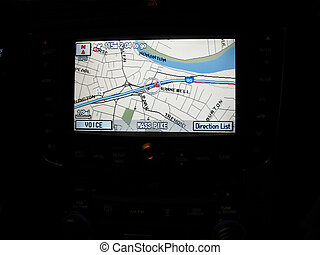 gps navigationg screen