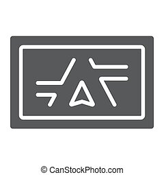 Gps navigator glyph icon, electronic and device, monitor map sign, vector graphics, a solid pattern on a white background, eps 10.