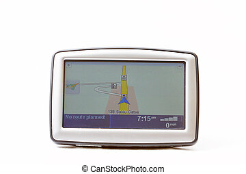 GPS navigator on white background