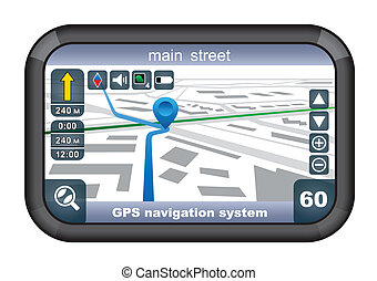 GPS navigator. vector, gradient, EPS10