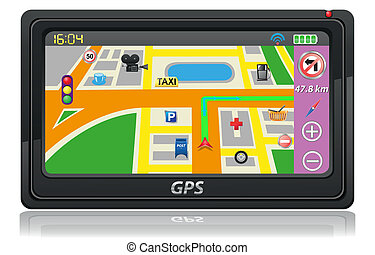 gps navigator vector illustration
