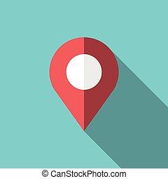 gps, ort, landkarte, zeiger
