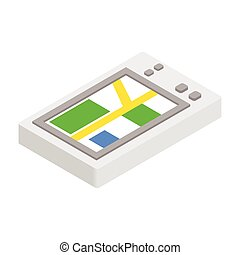 GPS phone 3d isometric icon