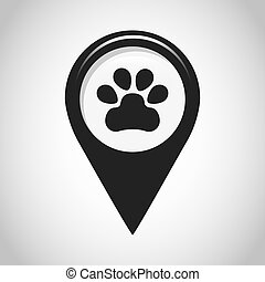 gps pin location design, vector illustration eps10 graphic