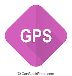 gps pink flat icon
