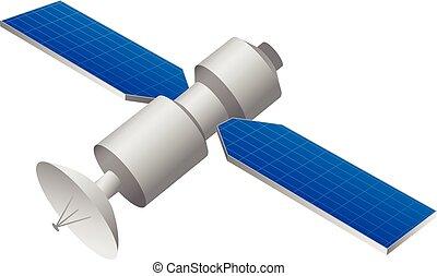 GPS satellite vector illustration