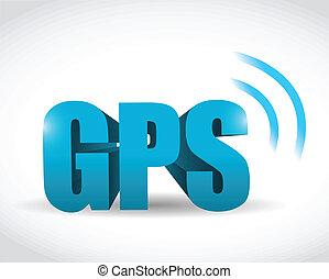 gps, signal, concept, illustration, conception