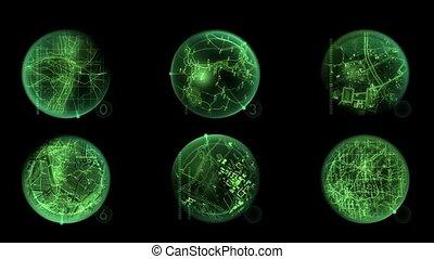 GPS,earth map,seamless loop,def