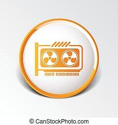gpu, oder, computer graphisch, karte, ikone, komponente
