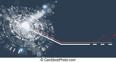 gráfico, abstratos, tecno, usuário, interface., circle., futurista
