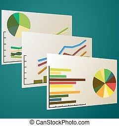 gráfico, analytics