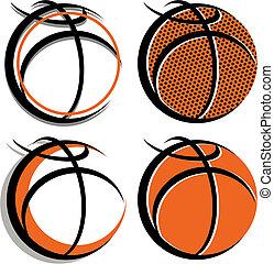 gráfico, baloncesto