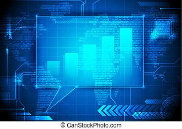gráfico, burbuja del discurso, barra