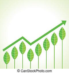 gráfico, c, crecimiento, agricultura, empresa / negocio