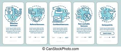 gráfico, casino, template., instructions., móvil, página, ...