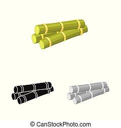 gráfico, caule, ícone, vetorial, açúcar, stock., símbolo., cana, ilustração