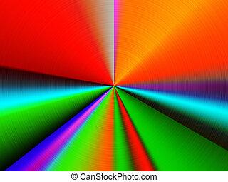 gráfico, coloridos, retro, fundo, sunrays