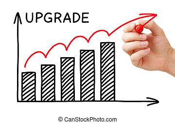 gráfico, conceito, actualização