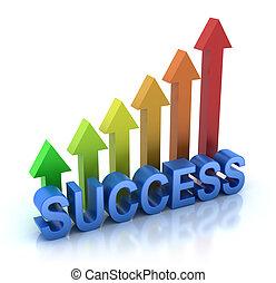 gráfico, conceito, sucesso, coloridos