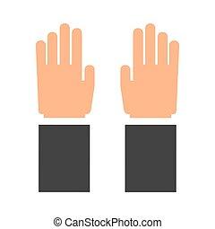 gráfico, concept., dedos, mão, vetorial, human, icon.