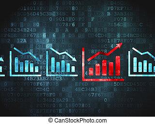 gráfico, concept:, fundo, negócio, digital