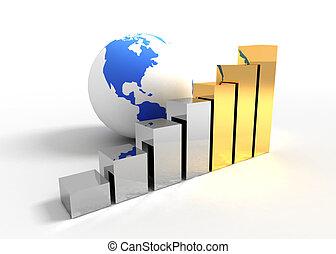 gráfico, concepto, empresa / negocio