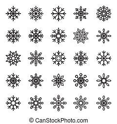 gráfico, congelado, símbolo, isolado, decoração, cristal, vetorial, desenho, fundo, snowflake