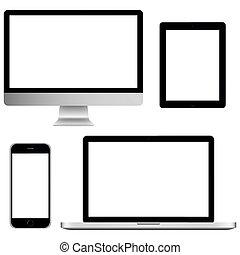gráfico, conjunto, comunicación, pantalla, ilustración, ...