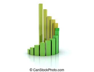 gráfico, crescimento, financeiro, espiral