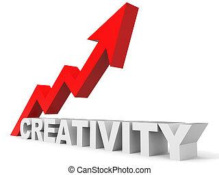 gráfico, criatividade, cima, arrow.