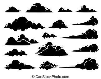 gráfico, design., vetorial, nuvem
