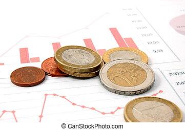 gráfico, dinero, empresa / negocio, encima, exposiciones, ...