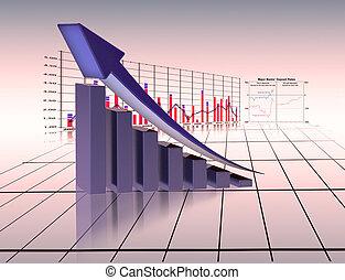 gráfico, economia