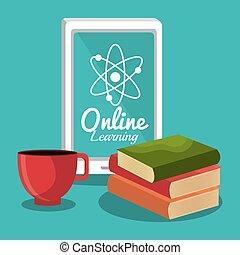 gráfico, educación, aprendizaje, en línea