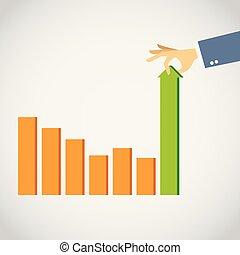 gráfico, empresa / negocio, intervención
