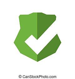 gráfico, escudo, proteção, etiqueta, vetorial, segurança, emblema, icon.