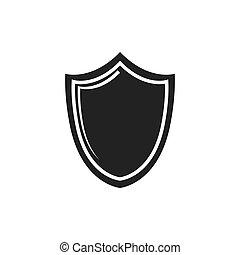 gráfico, escudo, proteção, sistema, vetorial, segurança, icon.