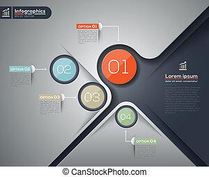 gráfico, esquema, negócio, modernos, desenho, infographics