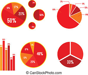 gráfico, estatísticas, barzinhos, cartas torta