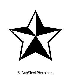 gráfico, estrella, alguacil, vaquero, vector, icono