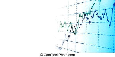 gráfico, financeiro