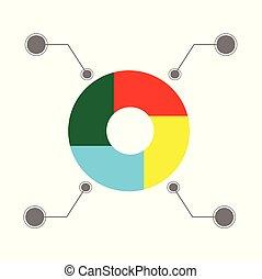 gráfico, four-color, infographics, color del negocio, pastel...