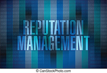 gráfico, gerência, ilustração, reputação