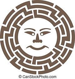 gráfico, hieroglyph., sol, vetorial, desenho, anciant