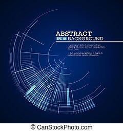 gráfico, ilustração, vetorial, usuário, interface., futurista