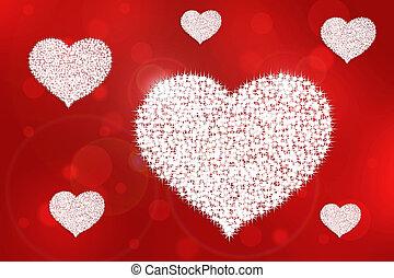 gráfico, imágenes, de, el, heart.