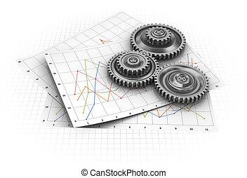 gráfico, industrial