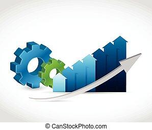 gráfico,  industrial, engranaje, empresa / negocio